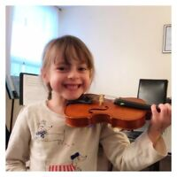 Suzuki Violin lessons for ages 3 and up!