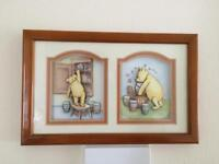 Winnie the Pooh picture with frame