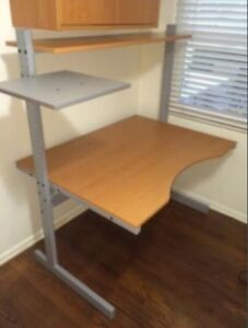 IKEA home or business office desk. Height adjustable