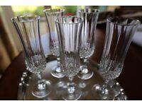 Crystal glasses - set of 5