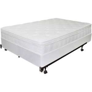 Double Mattress, Box Spring, and Bed Frame
