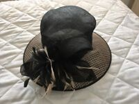 Black formal/wedding hat