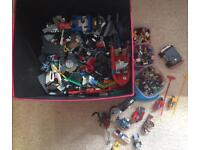 Lego Box + Sets and Custom built vehicles • Great Value