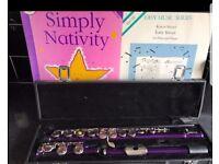 Girl purple flute