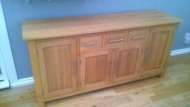 solid oak sideboard from oak furnitureland