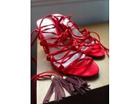 River Island Lace-Up Sandals