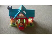 Fire station play set with figures