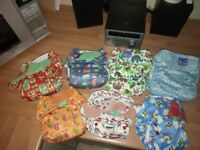 Selection of reausable nappies