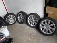 Audi 17 inch alloy wheels also fit vw