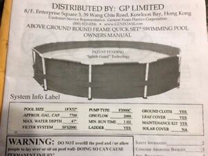 18' POOL FOR SALE