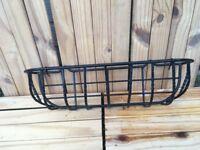 Black metal hanging baskets great for balcony hangers