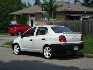 2002 Toyota Echo Chrome Sedan Rare Alpine White