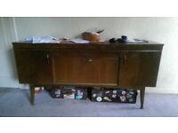 Vintage 60's dark sideboard