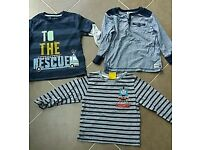 Boys long sleeved tops age 2-3 yrs