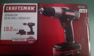 NEW Craftsman Li-ion 19.2 volt Power Drill and  Impact Wrenchh