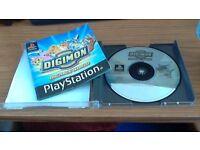 Rare Digimon World Sony PlayStation Game