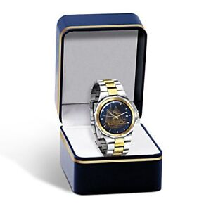 The BLUENOSE Stainless Steel Engraved MEN'S WATCH ~ AS NEW (BOX)