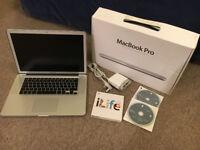 """Apple MacBook Pro A1286 15.4"""" Laptop - i7 2.66GHz, 8GB, 500GB HDD, 512MB GPU"""
