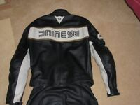 Ladies Dainese two piece leathers Size 42