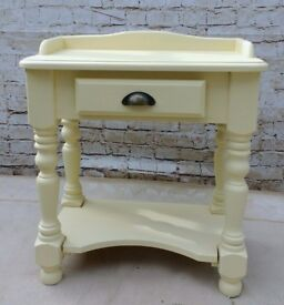 Shabby chic pine console table
