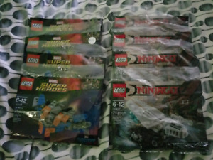 Brand New Sealed Lego Polybags Star Wars Super Heroes Ninjago