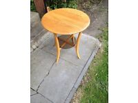 Rare 1980s Ercol Blonde Coffee Side Table