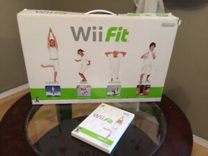 Wii Fit balance board and games - $30
