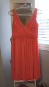 Coral bridesmaid dress size 8