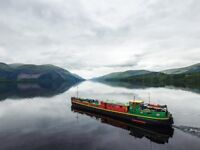 Cook Required, holiday cruise barge, Scottish Highlands
