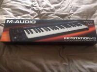 M-AUDIO KEYSTATION 49 - Bus Powered MIDI Controller - Never Used.