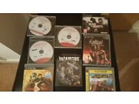 8 like new classic ps3 games, hardly used, quick sale available