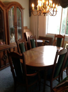 Italian dining set, coffee & end tables, console