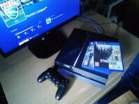 Sony Playstation 4 (500gb) with 1 controller and 2 games (Dying Light, The Division) [AS NEW] £160