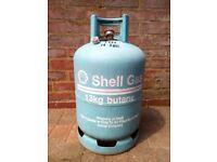 13kg Shell Butane Gas Bottle. Empty.