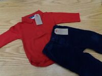 Bundle of 9-12 months clothes - Jumper, 2 piece set and Top and trousers 6-12 months