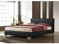 SALE🚚Brand New 💻 ⌨️SINGLE/SMALL Double/DOUBLE/KING Leather BED FRMAE💻 ⌨️Mattress ALSO AVAILBLE