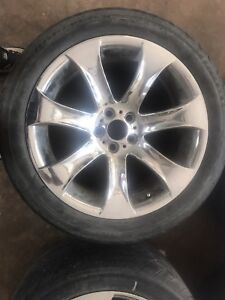 4 X 295 / 40ZR20 106Y tires & 7 spoke chrome rims (BMW) CHEAP