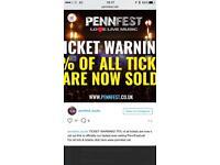 Penn festival pennfest Weekend tickets x 2 non camping