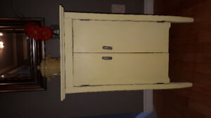 Solid wood Hutch, dressers, antiques lamps pictures