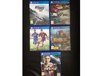 PS4 Games for sale ( GOOD DEAL AS GAMES ARE IN A GREAT CONDITION )