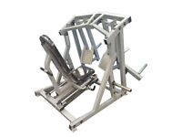 Commercial Grade ISO Lateral Leg Press **NEW** silver frame / black cushion