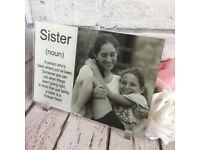 Add your own photo 'sister plaque'