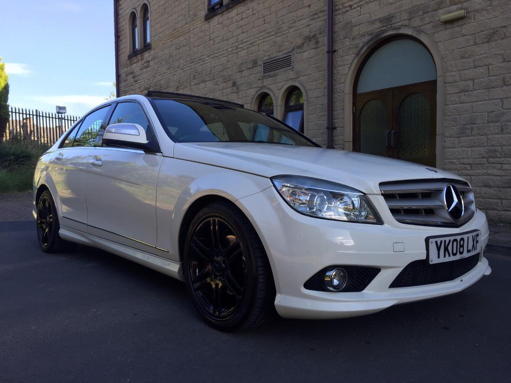 2008 mercedes c220 amg sport white panoramic roof in bradford west yorkshire gumtree. Black Bedroom Furniture Sets. Home Design Ideas