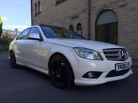 2008 MERCEDES C220 AMG SPORT WHITE PANORAMIC ROOF
