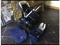 Bugaboo Cameleon3 (latest model) Limited Edition Classic Pram in Navy.