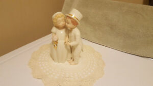 "Lenox Bride & Groom Figurine - Cake Topper - ""With This Kiss"""