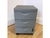 Ikea Erik Drawer unit 3 drawers on castors - Silver (no longer sold in UK) with 2 keys - 3 available