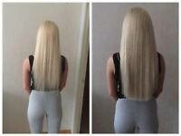 Mobile hair extension, 100% REMI human hair, Nano, Micro rings and Keratin bonds.