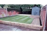 Garden leveling, Turf, Fencing