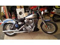 Harley Davidson superglide custom. 1584cc